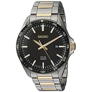 Fashion Shopping Seiko Men's Sport Watches Japanese-Quartz Stainless-Steel Strap, Silver, 19