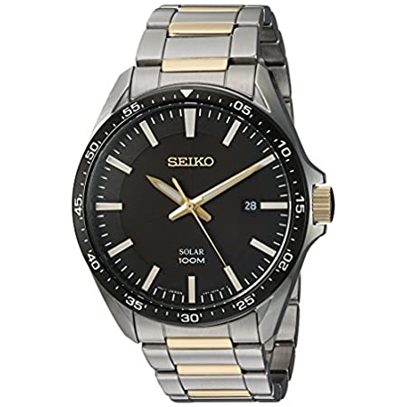 Fashion Shopping Seiko Men's Sport Watches Japanese-Quartz Stainless-Steel Strap, Silver, 19 (Model: SNE485)