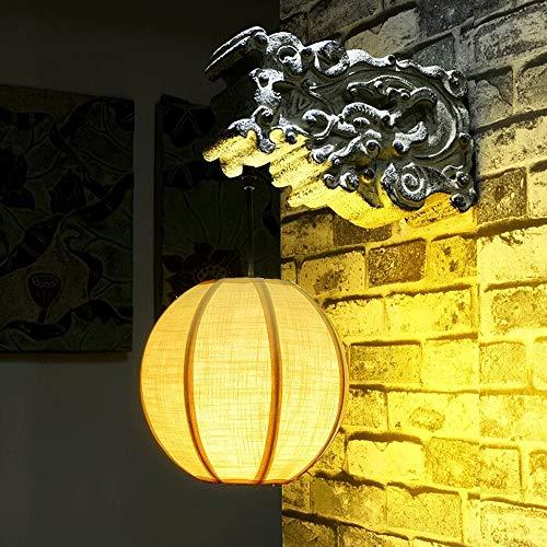 Lámpara de pared de iluminación de resina de viento China lámpara de pared creativa de soporte de escalera LED antiguo lámpara de pasillo de sala de estar lámpara de pared de salón de té de hotel