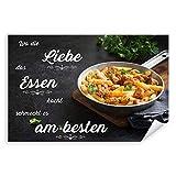 Postereck - 3936 - Nudeln, Spruch Liebe Essen Küche Kochen