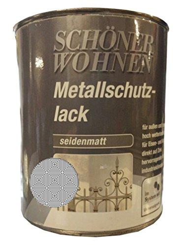 Schöner Wohnen Acrylatharz Metallschutz-lack Seidenmatt 750ml, Farbe (RAL):RAL 5010 Enzianblau