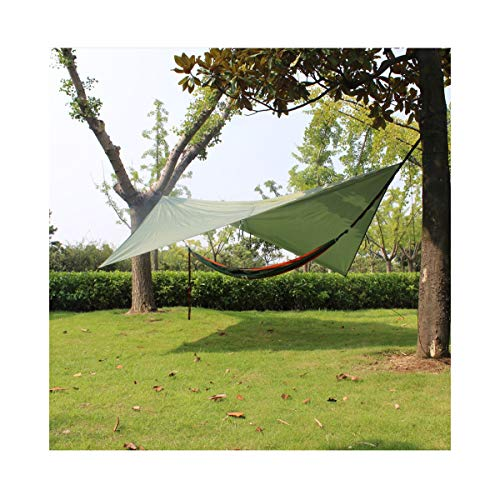 Ultralight Tent Tarp Waterproof Anti-UV 3M*3M Green /crayfomo Hammock Tarp Portable Sun Rain Shelter Backpack Campingwith Stakes Rope Rainfly