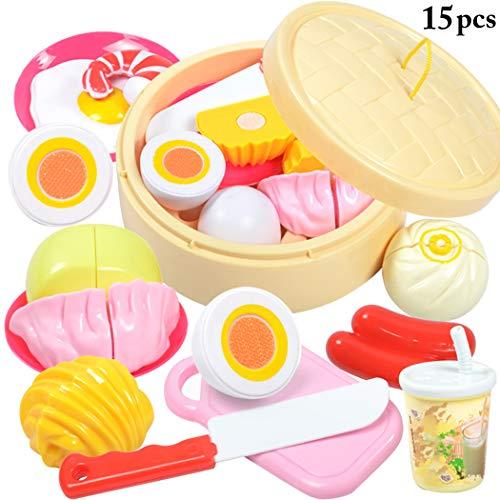 Joyibay 15 STÜCKE Kinder Kochen Spielzeug Kreative Dampfgarer So Tun Als Ob Abspielen Spielzeug für Kleinkind