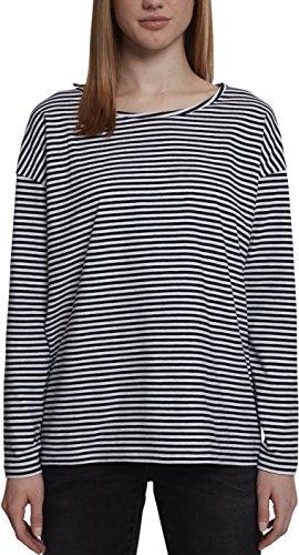 Urban Classics Ladies Oversize Longsleeve Camiseta de Manga Larga, Multicolor (Blanco/Negro 01248), XXL para Mujer
