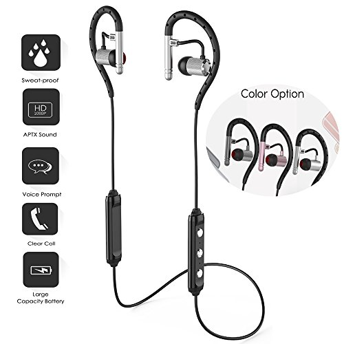 Sweatproof Hi Fi Headset Wireless Earphones Mic, Miya Premium Sound Headphones Earbuds Hands Free Call for Samsung Galaxy Tab A 10.1 Samsung Galaxy