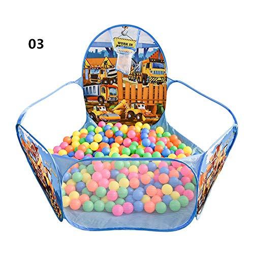 Babyballenbad, ballenbak voor kinderen Pop-up speeltent voor kinderen, draagbaar opvouwbaar spelzwembad met mini-basketbalring en opbergtas - ballen niet inbegrepen, 120 × 120 × 39 cm