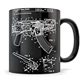 AK-47 Mug - Great AK 47 Coffee Gift for Men and Women Student Graduation or Profession - Best AK47 Themed Gift Idea - Cool Rifle Patent Cup