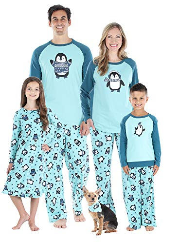 Our Family Pjs Matching Family Christmas Pajama Sets, Fleece Penguins - Womens (OFP-6507-W-MED)