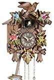 Eble Reloj de cuco de madera auténtica, mecanismo de cuarzo