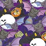 Springs Creative Stoffe, Fledermäuse, violett, Halloween,