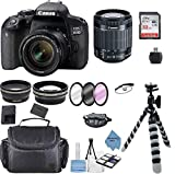 Canon EOS 800D Rebel T7i Kit with EF-S 18-55mm f/3.5-5.6 III Lens + Accessory Bundle +TopKnotch Deals Cloth