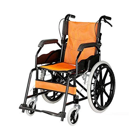 Sitzbreite 40cm Transportrollstühle, Rollstühle mit Selbstantrieb mit Breath Kissen, Faltbar & Leicht, Voll Fix Armstützen