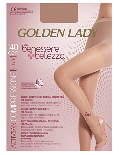 Golden Lady Benessere & Schönheit Strumpfhose 140 den schwarz Größe XL G115 Damenstrümpfe, Mehrfarbig, Einheitsgröße