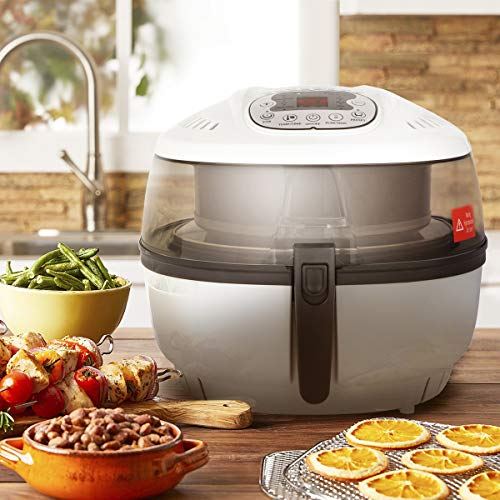 Ensue Premium Electric Air Fryer Oil-free Fry Cooker No Oil Digital Temperature Timer Control Stir Function, 1700 Watts, 6.3QT