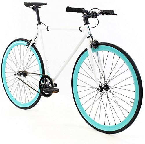 Golden Cycles Fixed Gear Bike Steel Frame Fixie with Deep V Rims-Collection (Abigail, 41)