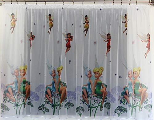 Polontex Gardinen mit universalband Tinkerbell 150cmB x 150cmL Kinderzimmer Vorhang Disney EISONIGIN
