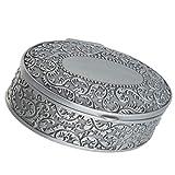 NUOBESTY Caja del Tesoro de Metal Vintage Joyero Organizador de Caja de Baratijas Anillo de Recuerdo Caja de Aretes Caja de Baúles de Almacenamiento en El Pecho Caja de Regalo de Dulces