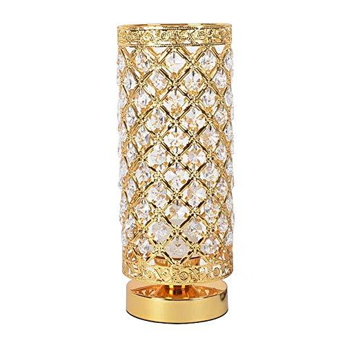 WEM Lámpara de mesa de cristal para dormitorio, lámpara de mesita de noche moderna Cilíndrico E27 Luz de escritorio Decoración de interiores Accesorios de iluminación-Botón de interruptor de encendid