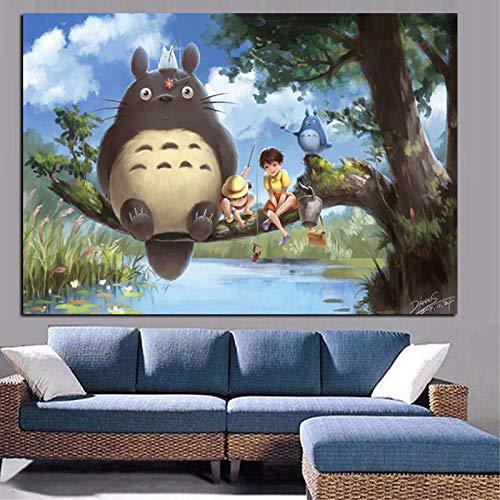 tzxdbh Print Anime Movie Art Buurman op Canvas Poster Moderne Cartoon Muurfoto voor Woonkamer Cuadros Decor-in Schilderij & Kalligrafie van Huis & Tuin 50x70cm Unframed
