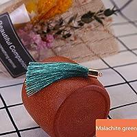 10-50ピースの金属製のキャップタッセルジュエリーのカーテンの衣服装飾的なDIYのキー携帯電話のフリンジトリムタッセルペンダント tanglibengmeiguo (Color : Malachite green, Size : 40Pcs)
