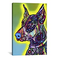 iCanvasART Doberman by Dean Russo Canvas Art Print