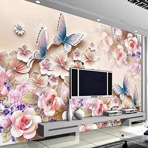 At the Inventory cleanup selling sale price HGFHGD Self-Adhesive Mural 3D Three-Dimensional Flower Butterfly