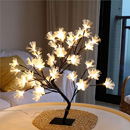 Luonita Twig Branch, LED Star Light Tree, Fiber Optic Flower Tree Light Black Branch 36LED Home Decoration for Christmas Home Decoration Indoor Outdoor Ship from CA.,NJ.