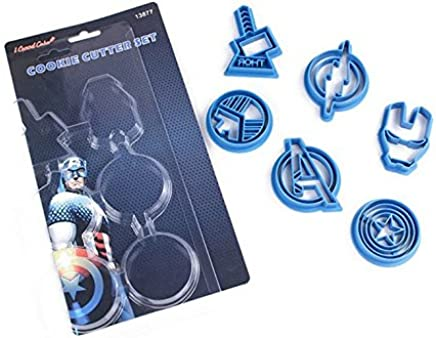 Astra Gourmet Avengers Cpt Superhero Cookie Cutters,  Plastic Baking Fondant Cookie Molds Cake Decoration ,  Set of 6