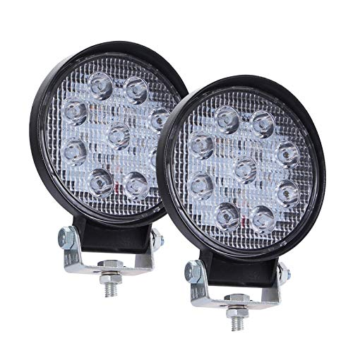 YEZHENGHUA Yzhua 1 / 2PCS 90W 140W 160W 6000K 14000LM Circular Impermeable LED de Trabajo Luz de iluminación de foquel Light Bombillas Ajuste para SUV Jeep 4x4 (Emitting Color : 2Pcs Circles 90W)