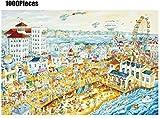 CLQya Juego de rompecabezas clásico Puzzle Family Hour Ocean Park Puzzle 1000 piezas Rompecabezas de papel multicolor para niños y niños pequeños Edades 3-8 Juguetes educativos de aprendizaje Set par