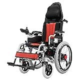 Gpzj Fauteuil Roulant électrique, Scooter électrique à Quatre Roues handicapé léger Pliable pour Personnes âgées en Alliage d'aluminium