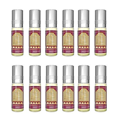 Prime Real Attar Lot de 12 flacons de parfum sans alcool Halal 6 ml