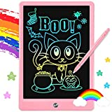 Gojmzo LCD Writing Tablet, 11 Inch Colorful Drawing Pad Erasable Electronic Doodle Board for Kids, Toddler Learning Educational Toys Gifts for 3 4 5 6 Year Old Girls Boys(Pink)