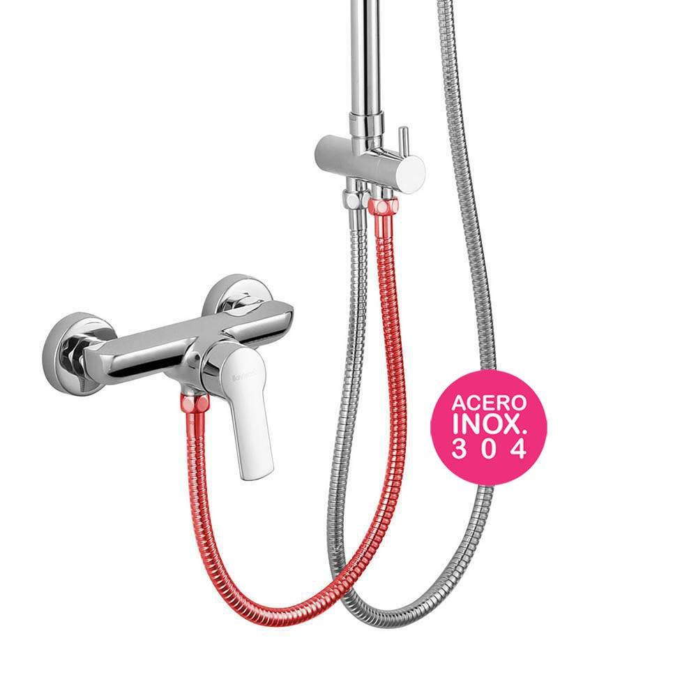 Kibath 101371 Flexo de acero inoxidable de conexión para ducha o ...