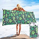 YUYUTE Badetuch, Green Cactus Outdoors Microfiber Quick Dry Travel Towel,for Gym,Sports,Thin Lightweight,Shower Towels
