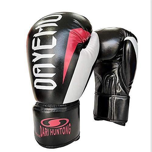 Guantes de piel de lucha infusión de gel for el combate de Kickboxing La lucha contra los guantes mitones Muay Thai Deportes High Class MMA Guantes de boxeo for mujeres de los hombres de arena pesada
