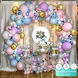 Kits de guirnaldas de globos en colores pastel Macaron Globos de látex de colores Globo dorado metálico con flores artificiales de colores para bodas Fiesta de cumpleaños Decoración de baby shower