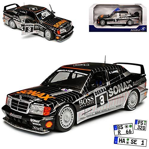 Mercedes-Benz C-Klasse 190E W201 2.5-16V Evolution II DTM Ludwig Schwarz 1982-1993 1/18 Solido Modell Auto