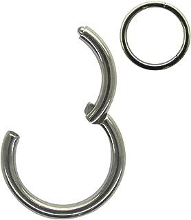 G23 Titanium 20G-18G-16G-14G with 5/6/7/8/9/10/11/12/13/14/16mm Septum Hinged Clicker Segment Seamless Sleeper Earring Nose Hoop Ring