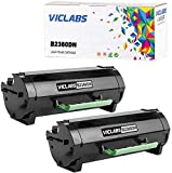 VicLabs Compatible B2360DN Toner(331-9805), Replacement for Dell B2360DN Toner Cartridge for Dell B2360 B2360D B2360DN B3460 B3460D B3460DN B3465 B3465DN B3465DNF Printers-8,500 Pages(2-Pack,Black)