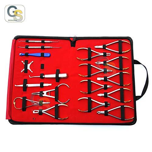 G.S 18 Pcs Basic Orthodontics Dental Instruments Set Composite Kit Premium DN-2123 Best Quality