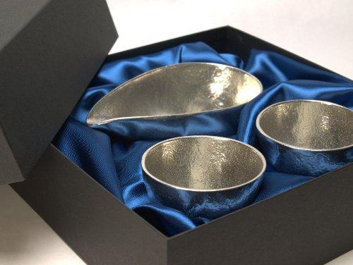 能作 片口 小 ぐいのみ 2個 伝統工芸 セット 高級 化粧箱 包装 3 贈呈品