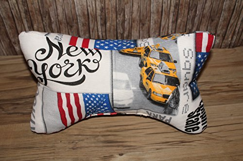 Leseknochen Nackenstütze Nackenrolle Buchstütze Relaxing Neck Pillow Tabletstütze Lagerungskissen New York USA Freiheitsstatue Kissen Dekokissen
