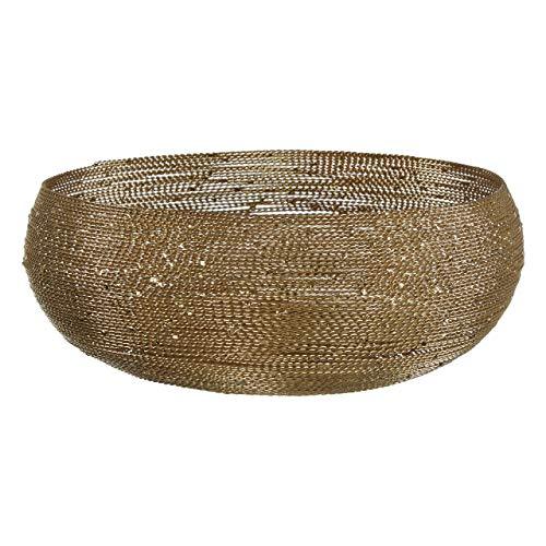 Premier Housewares 1411446 Cuenco decorativo, metal, latón
