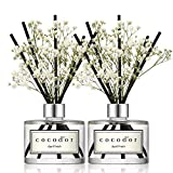 [Cocod'or/April Frisch] Flower diffusers oil with a set of 5 fiber sticks, 200ml*2packs, Best for...