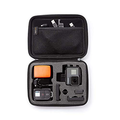 Black Navitech 9 in 1 Action Camera Accessory Combo Kit and Rugged Black Storage Case Compatible with The Bear Grylls/ BG-AC-1 Action Camera