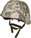 Modern Warrior Tactical M88 ABS Tactical Helmet with Adjustable Chin Strap, Digital Camo, 11-InchL x 10-InchW x 7.5-InchH