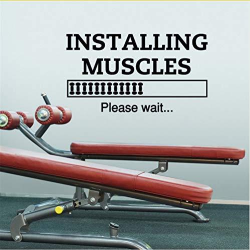 Zfkdsd Sport Zitate Wandtattoos Installation Muskeln Bitte Warten Sie, GymZelt WandtattoosFitness Aufkleber56 * 102Cm