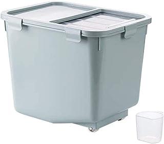 AWAING Bocaux Preuve de céréales Conteneurs de riz Boîte de rangement de plastique avec couvercle Joint humidité Cuisine a...