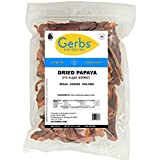Gerbs Dried Papaya No Sugar Added, 2 LBS - Preservative Free & Unsulfured - Top 14 Food Allergy Free & NON GMO - Product of Thailand